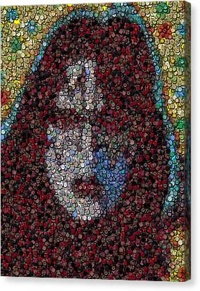 Ace Frehley Poker Chip Mosaic Canvas Print