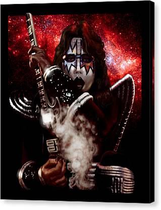Ace Frehley Red Solo Space Canvas Print