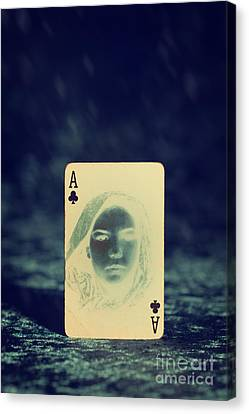 Ghostly Canvas Print - Ace Of Clubs by Amanda Elwell