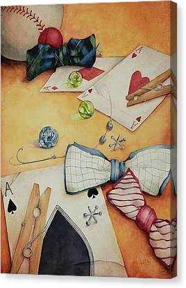 Aces And Jacks Canvas Print by Lorraine Ulen