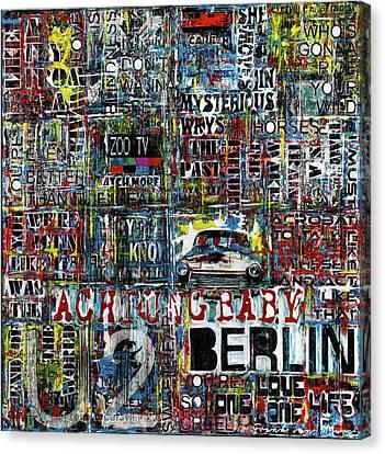 Achtung Baby Canvas Print by Frank Van Meurs