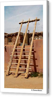 Canvas Print featuring the photograph Acoma Ladder by R Thomas Berner