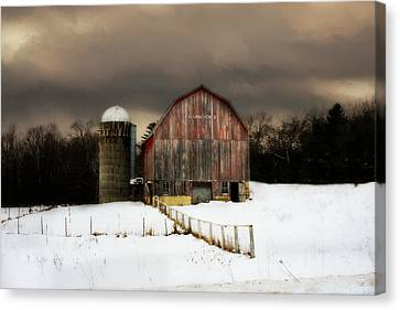 Canvas Print featuring the photograph Acorn Acres by Julie Hamilton