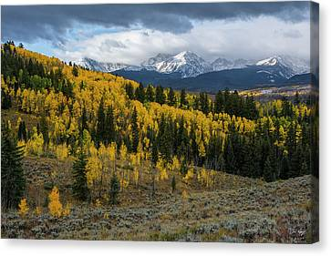 Canvas Print featuring the photograph Acorn Creek Autumn by Aaron Spong