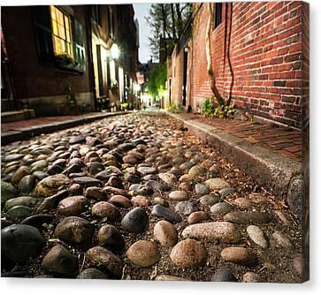 Boston Ma Canvas Print - Acorn Street Cobblestone Detail Boston Ma by Toby McGuire