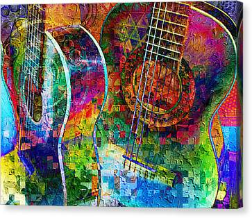 Acoustic Cubed Canvas Print by Kiki Art