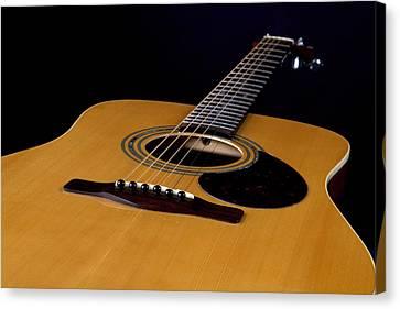 Acoustic Guitar  Black Canvas Print