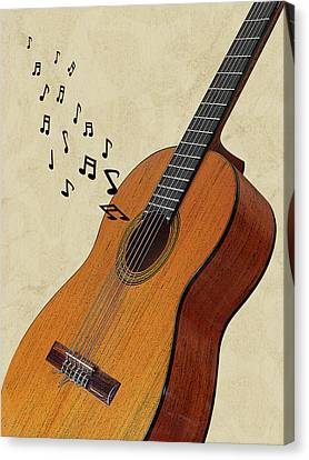 Concert Images Canvas Print - Acoustic Guitar Sounds by Gill Billington