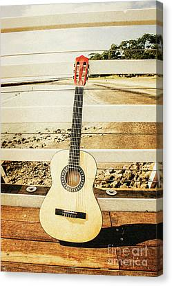Oldies Canvas Print - Acoustic Guitar Still Life Art by Jorgo Photography - Wall Art Gallery