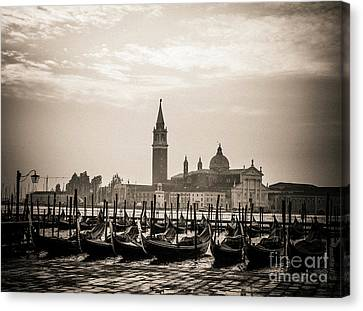 Serenisim Canvas Print - Acqua Alta. Flood . Venice. Italy by Bernard Jaubert