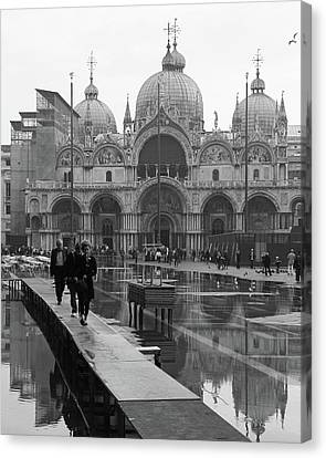 Canvas Print featuring the photograph Acqua Alta, Piazza San Marco by Richard Goodrich