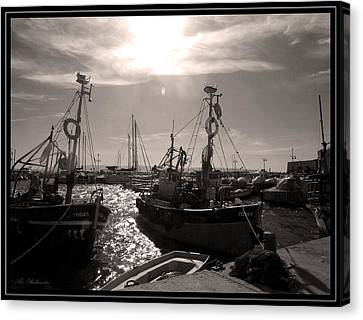 Acre  Fishing Port Canvas Print by Arik Baltinester