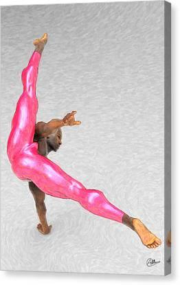 Acrobatic Dancer Canvas Print by Quim Abella
