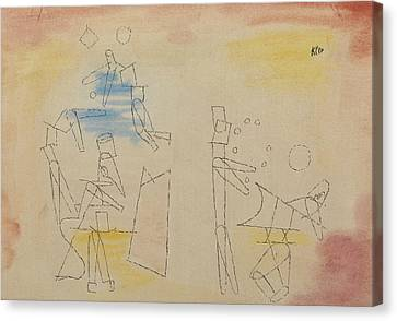 Acrobats Canvas Print by Paul Klee