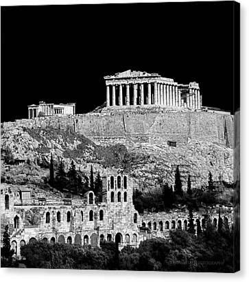 Acropolis Canvas Print by Andy Frasheski