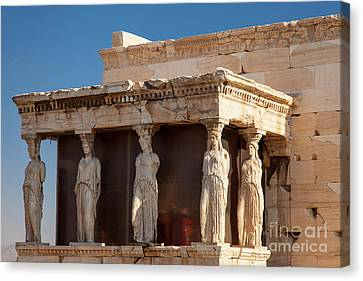Greek Icon Canvas Print - Acropolis Caryatids by Brian Jannsen
