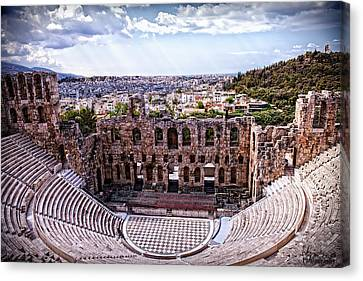 Canvas Print featuring the photograph Acropolis by Linda Constant