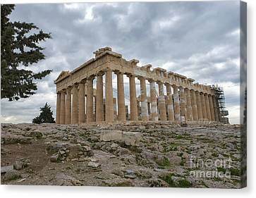 Acropolis Of Athens, Greece Canvas Print by Ivan Batinic