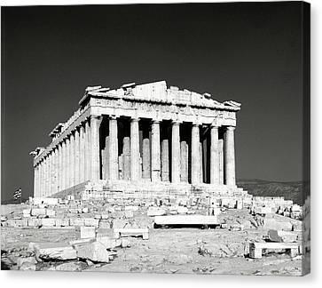 Acropolis Of Athens Canvas Print by Manolis Tsantakis