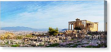 Acropolis Of Athens Panoramic Canvas Print
