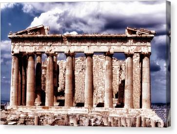 Canvas Print featuring the photograph Acropolis Of Greece by Linda Constant