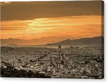 Acropolis Sunset Canvas Print