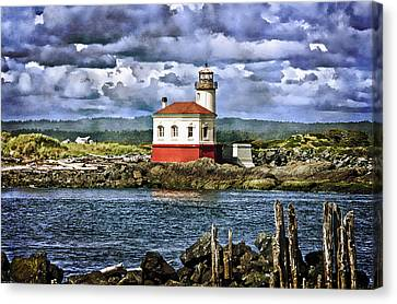 Across From The Coquille River Lighthouse Canvas Print by Thom Zehrfeld