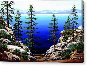 Across Lake Tahoe Canvas Print by Frank Wilson