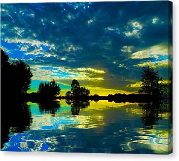 Canvas Print featuring the photograph Across Poyo Lake by Mark Blauhoefer