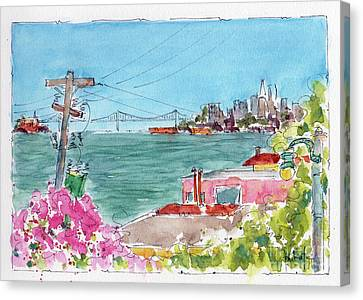 Across The Bay From Sausalito Canvas Print by Pat Katz