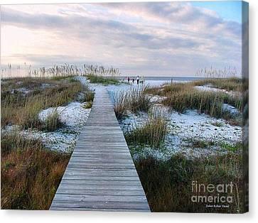 Canvas Print - Across The Dunes by Julie Dant