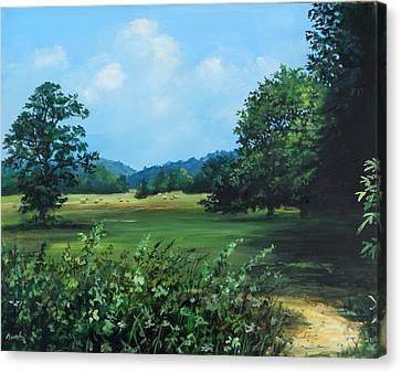 Across The Field Canvas Print