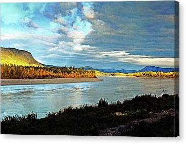 Across The Liard Canvas Print