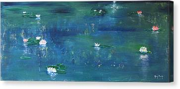 Across The Lily Pond Canvas Print by Gary Smith