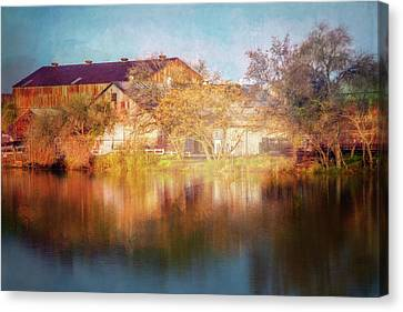 Abandoned Houses Canvas Print - Across The Marina by Terry Davis