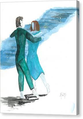 Across The Night... Canvas Print by Robert Meszaros