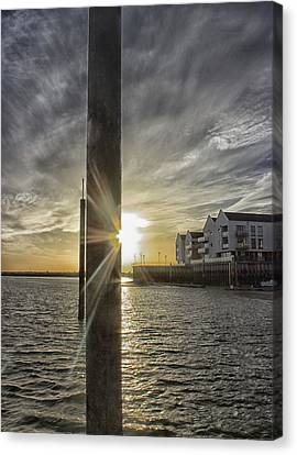 Across The Quay Canvas Print