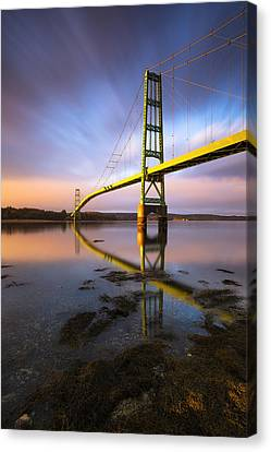 Across The Reach Canvas Print by Patrick Downey