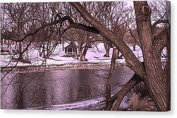 Across The River Canvas Print by Anne Witmer