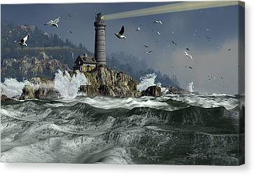 Across The Surly Brine Canvas Print by Dieter Carlton