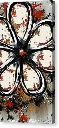 Claret Canvas Print - Acrylic Flower  by Melissa Smith