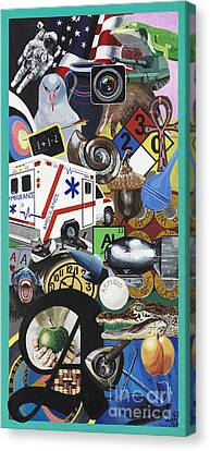 Acrylic Painting Letter A Canvas Print by Scott Duffy