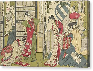 Act I And Act II Canvas Print by Katsukawa Shunei
