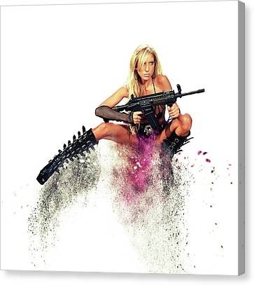 Action Girl Canvas Print by Stephen Smith