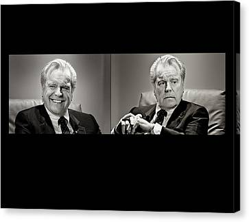 Actor Robert Wagner Comedy And Tragedy Canvas Print by Vivian Frerichs