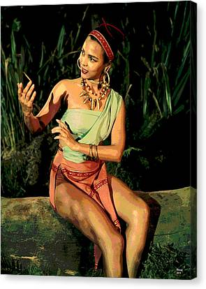 Actress Dorothy Fandridge Canvas Print by Charles Shoup