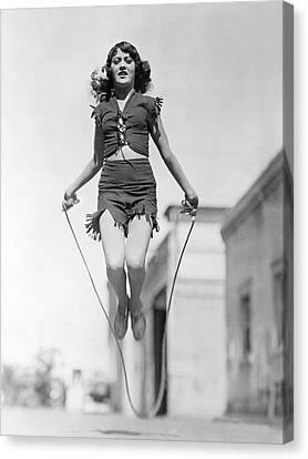 Actress Jumping Rope Canvas Print by Underwood Archives