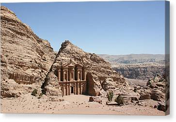 Ad Deir Monastery Petra Jordan Canvas Print by Diego Delso