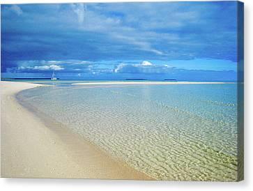 Adagio Alone In Ouvea, South Pacific Canvas Print