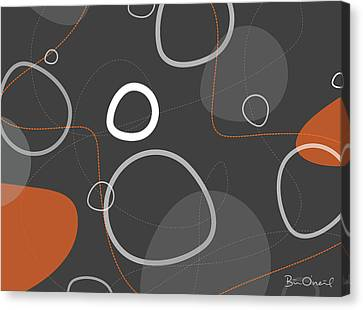 Adakame - Atomic Abstract Canvas Print by Bill ONeil